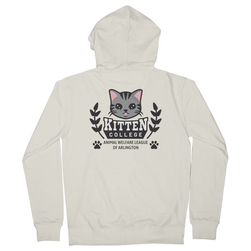 Kitten College - Large Logo Women's French Terry Zip-Up Hoody by Animal Welfare League of Arlington Shop
