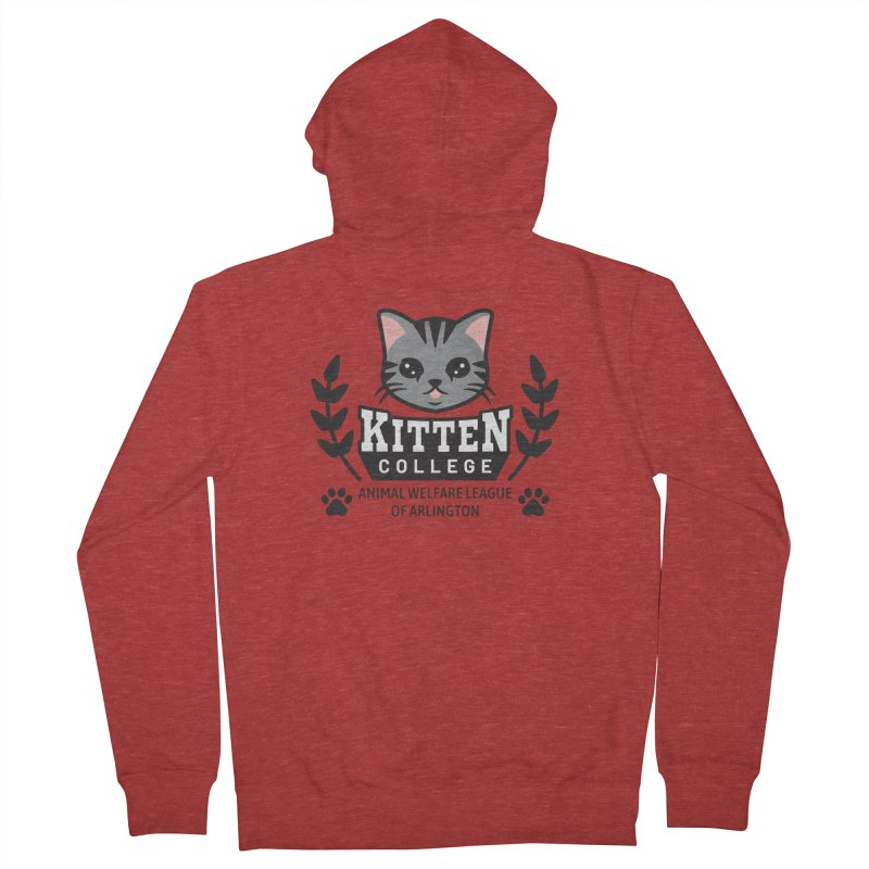 Kitten College - Large Logo Men's French Terry Zip-Up Hoody by Animal Welfare League of Arlington Shop