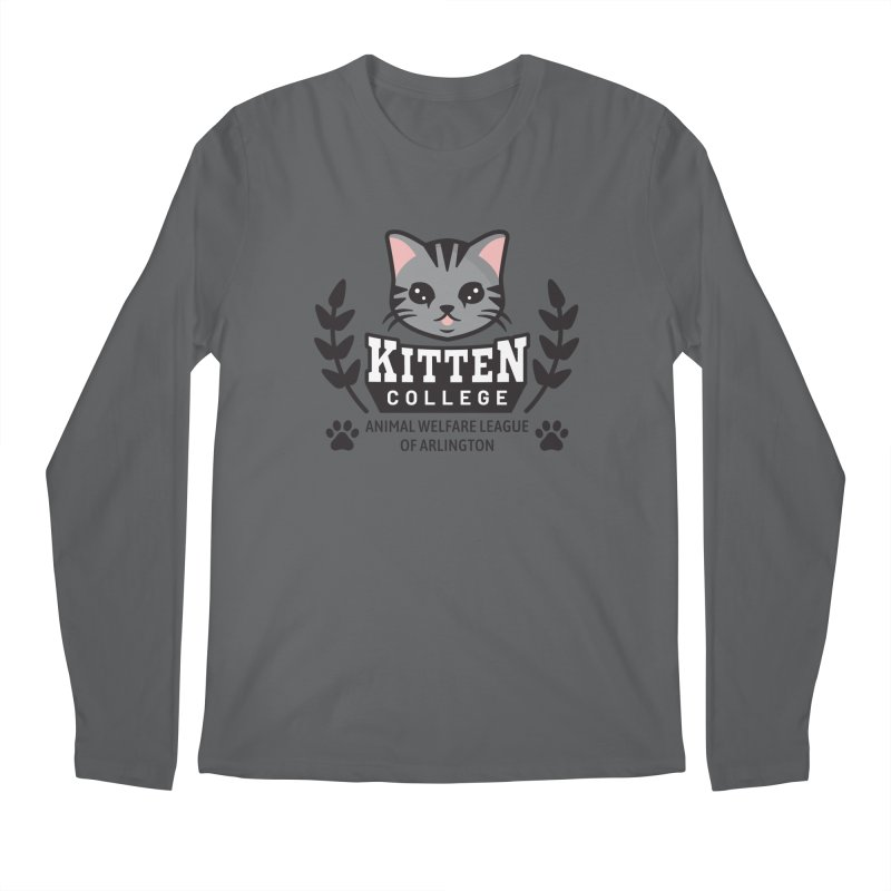 Kitten College - Large Logo Men's Regular Longsleeve T-Shirt by Animal Welfare League of Arlington Shop