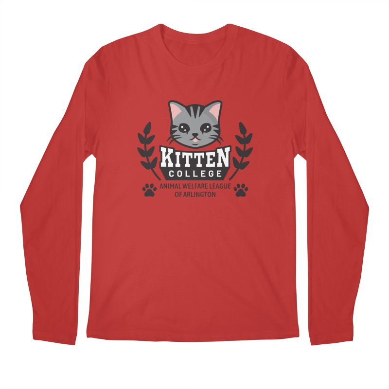 Kitten College - Large Logo Men's Regular Longsleeve T-Shirt by Animal Welfare League of Arlington Shop