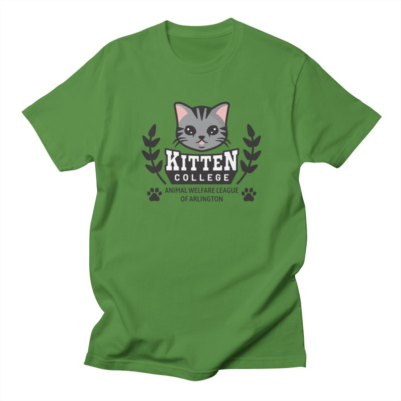 Kitten College - Large Logo Women's Regular Unisex T-Shirt by Animal Welfare League of Arlington Shop
