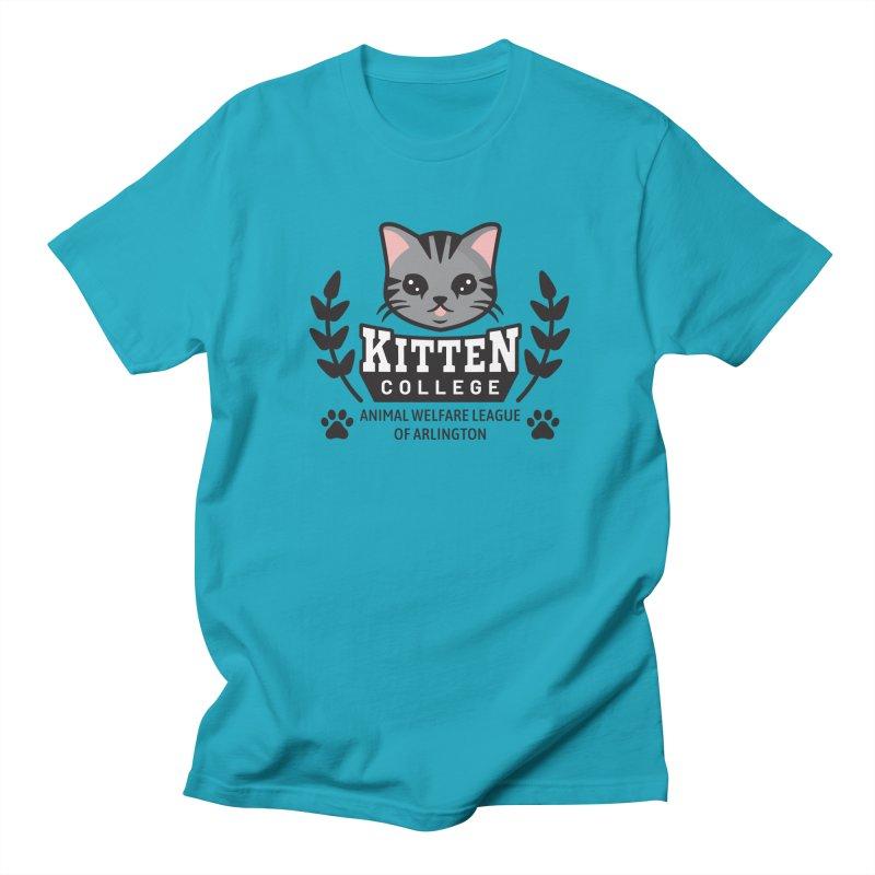 Kitten College - Large Logo Men's Regular T-Shirt by Animal Welfare League of Arlington Shop