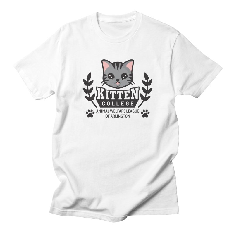 Kitten College - Large Logo Women's Regular Unisex T-Shirt by Animal Welfare League of Arlington Shop
