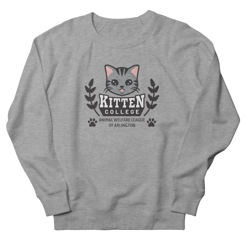 Kitten College - Large Logo Men's French Terry Sweatshirt by Animal Welfare League of Arlington Shop