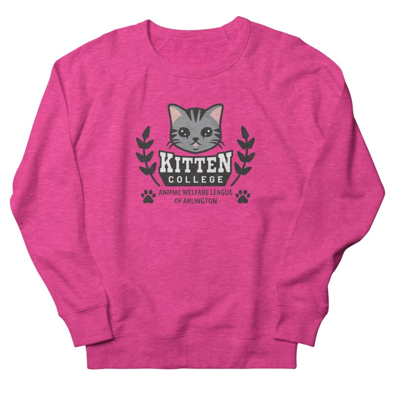 Kitten College - Large Logo Men's French Terry Sweatshirt by Animal Welfare League of Arlington Shop