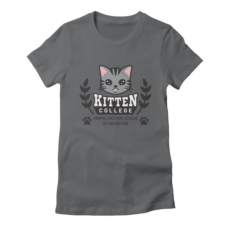 Kitten College - Large Logo Women's Fitted T-Shirt by Animal Welfare League of Arlington Shop