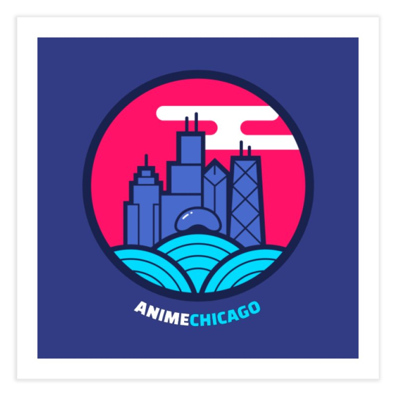 AnimeChicago Crest Home Fine Art Print by AnimeChicago Store