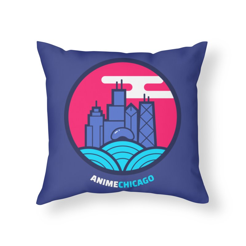 AnimeChicago Crest Home Throw Pillow by AnimeChicago Store