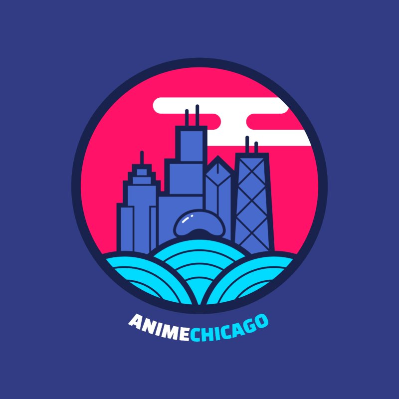 AnimeChicago Crest Men's Triblend T-Shirt by AnimeChicago Store