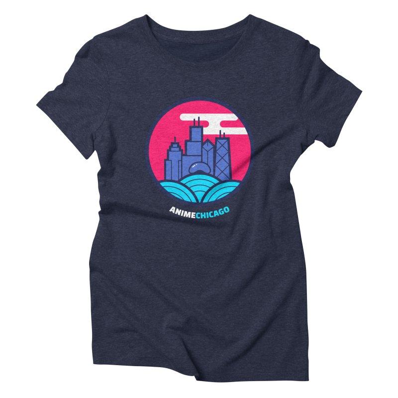 AnimeChicago Crest Women's Triblend T-shirt by AnimeChicago Store