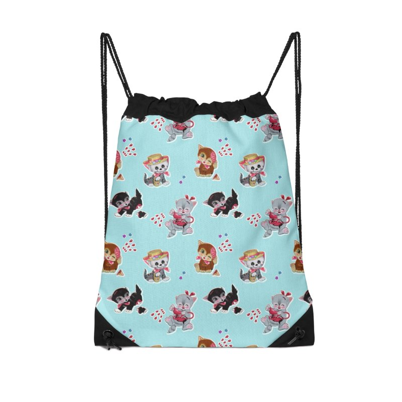 Zombie Cats Accessories Drawstring Bag Bag by anion2's Artist Shop