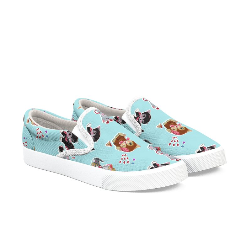 Zombie Cats Men's Slip-On Shoes by anion2's Artist Shop