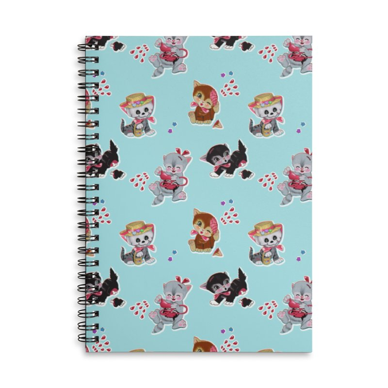 Zombie Cats Accessories Lined Spiral Notebook by anion2's Artist Shop
