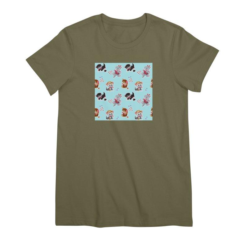 Zombie Cats Women's Premium T-Shirt by anion2's Artist Shop