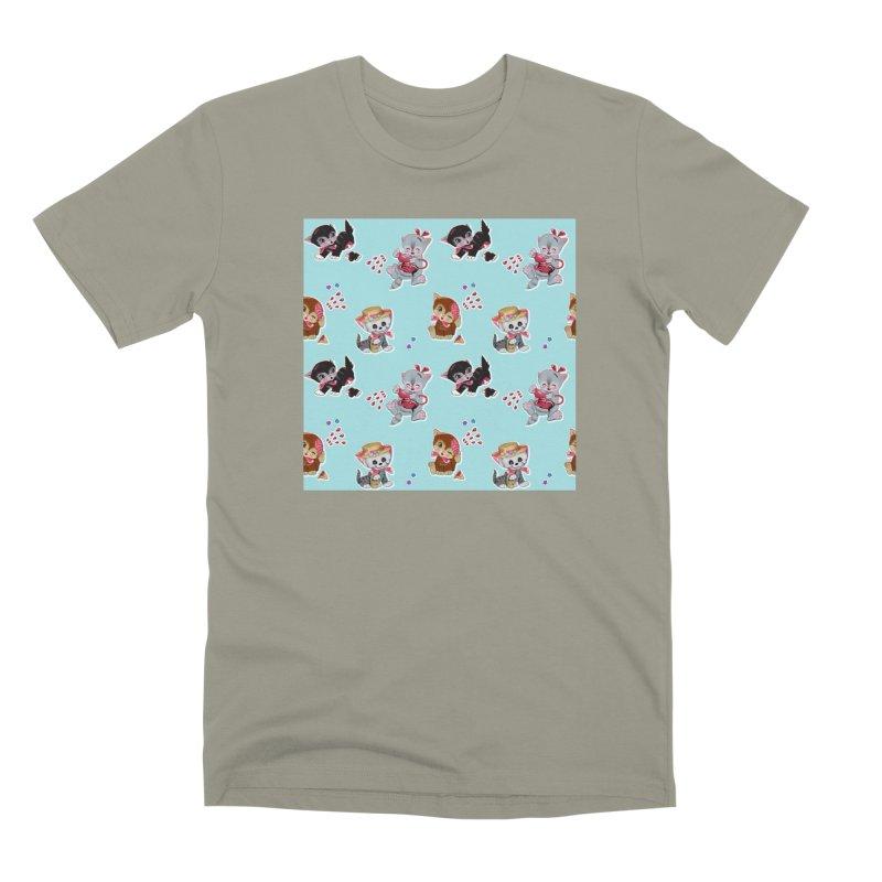 Zombie Cats Men's Premium T-Shirt by anion2's Artist Shop