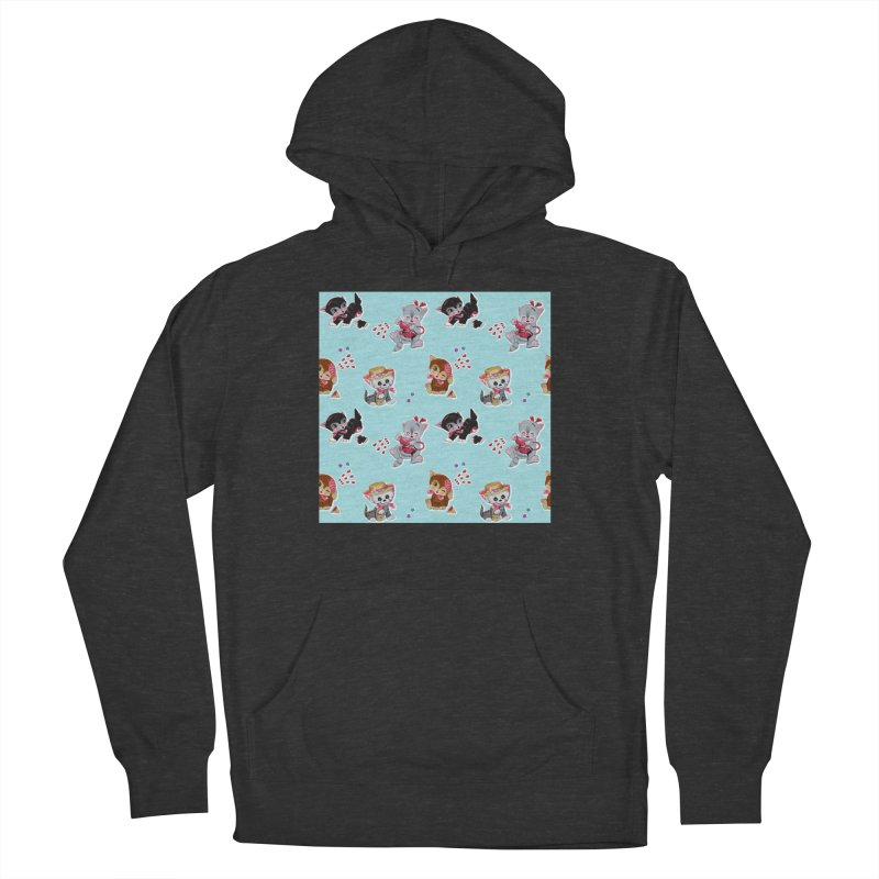 Zombie Cats Men's French Terry Pullover Hoody by anion2's Artist Shop