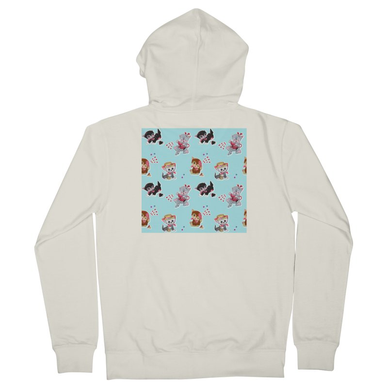 Zombie Cats Women's French Terry Zip-Up Hoody by anion2's Artist Shop