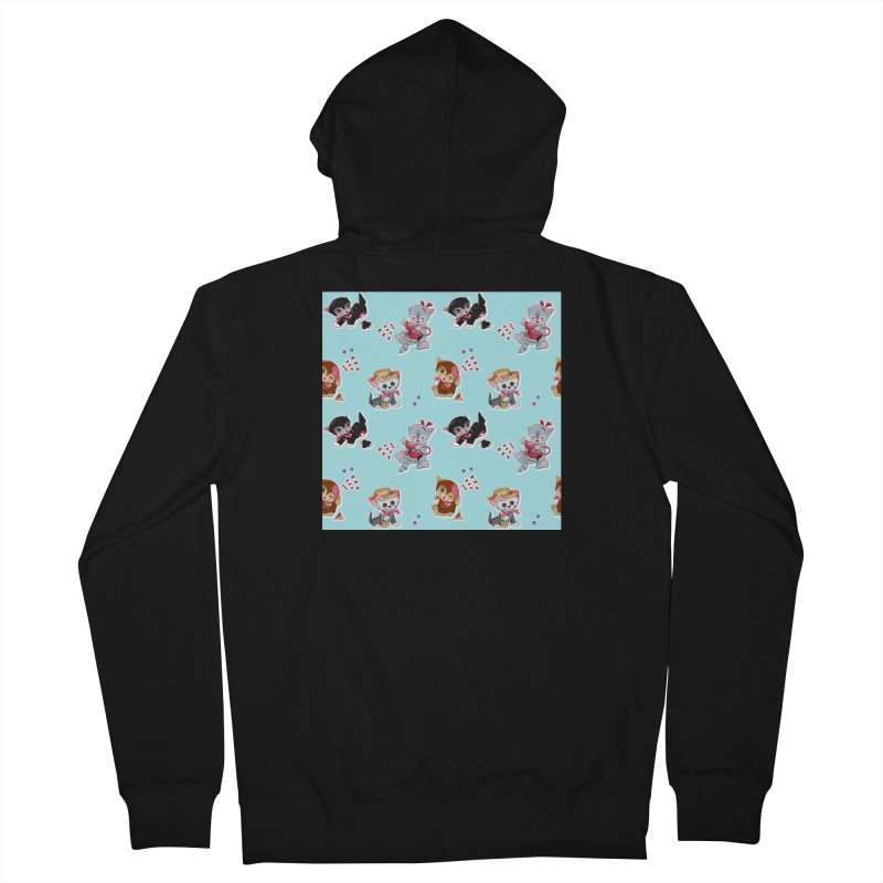 Zombie Cats Men's French Terry Zip-Up Hoody by anion2's Artist Shop