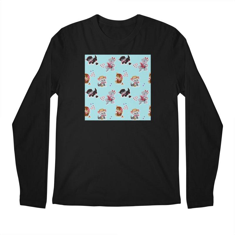Zombie Cats Men's Regular Longsleeve T-Shirt by anion2's Artist Shop