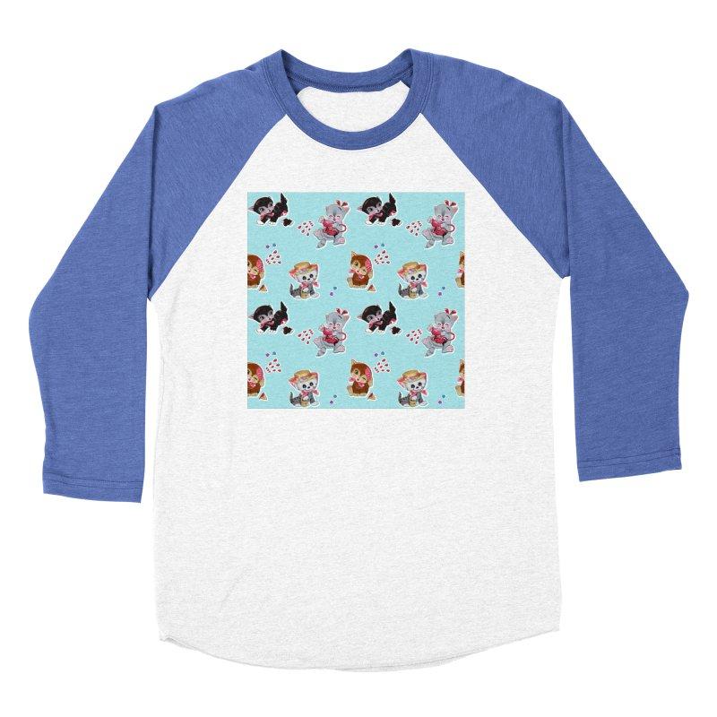 Zombie Cats Women's Baseball Triblend Longsleeve T-Shirt by anion2's Artist Shop