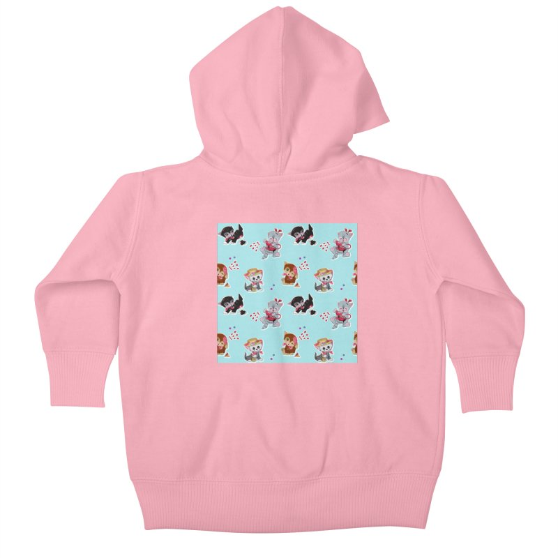 Zombie Cats Kids Baby Zip-Up Hoody by anion2's Artist Shop