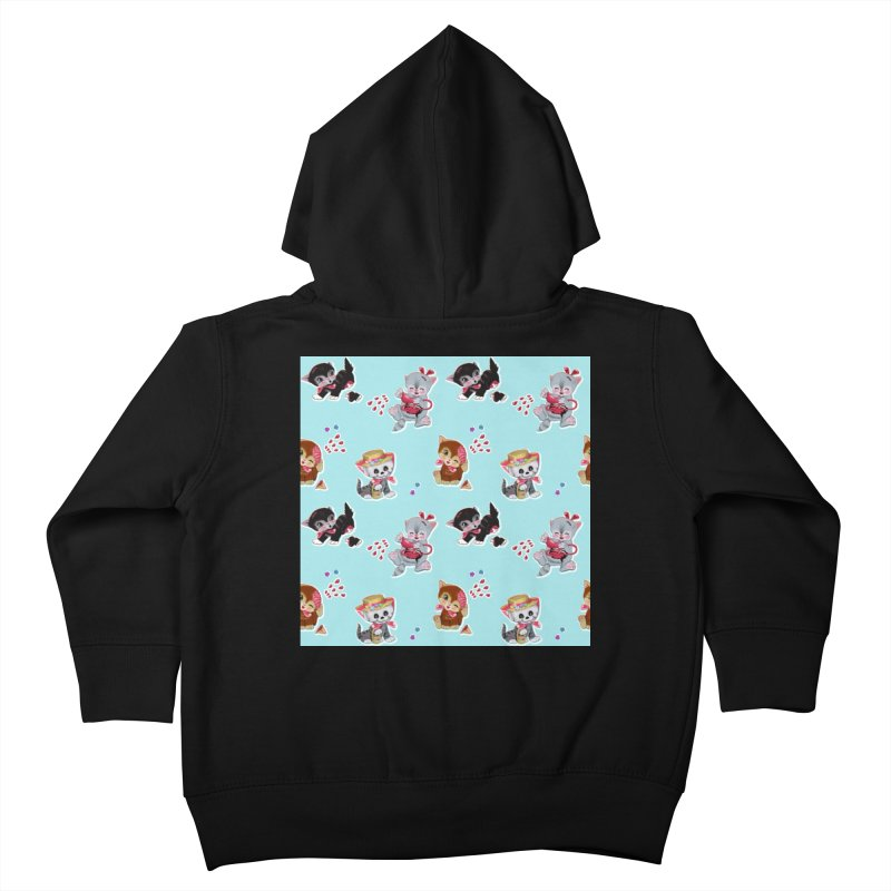 Zombie Cats Kids Toddler Zip-Up Hoody by anion2's Artist Shop