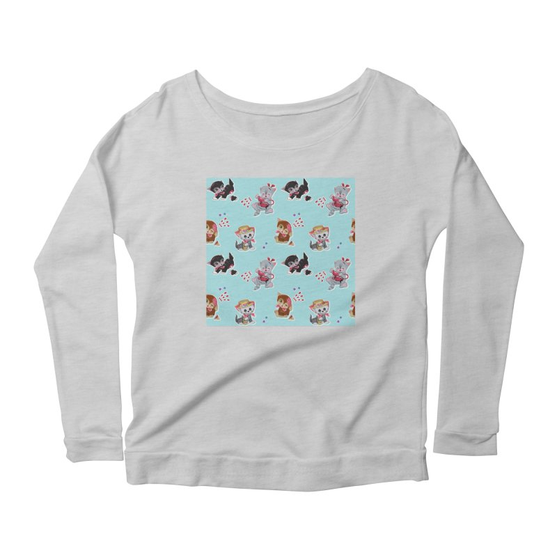 Zombie Cats Women's Scoop Neck Longsleeve T-Shirt by anion2's Artist Shop