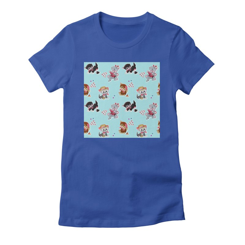 Zombie Cats Women's Fitted T-Shirt by anion2's Artist Shop