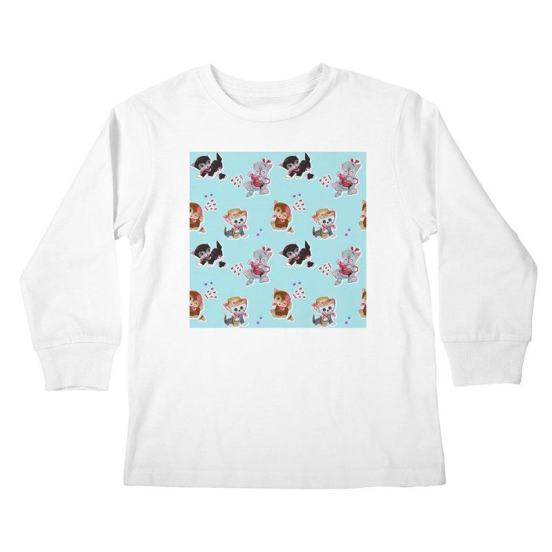 Zombie Cats Kids Longsleeve T-Shirt by anion2's Artist Shop