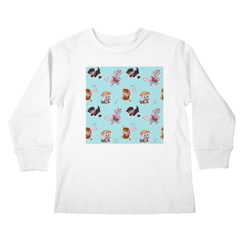 Zombie Cats Kids Longsleeve T-Shirt by anion2's Artist Shop