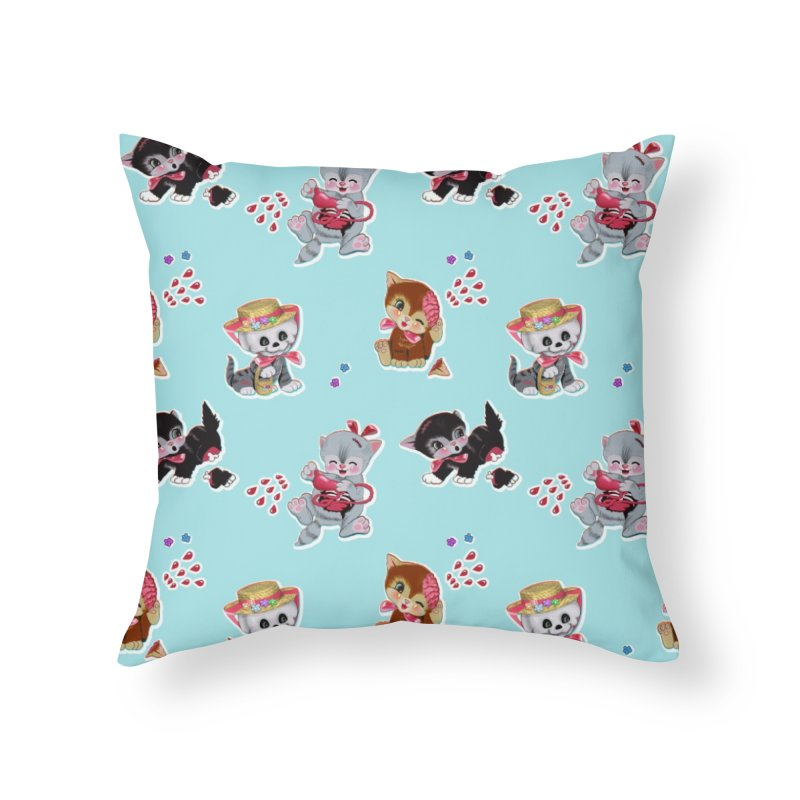 Zombie Cats Home Throw Pillow by anion2's Artist Shop