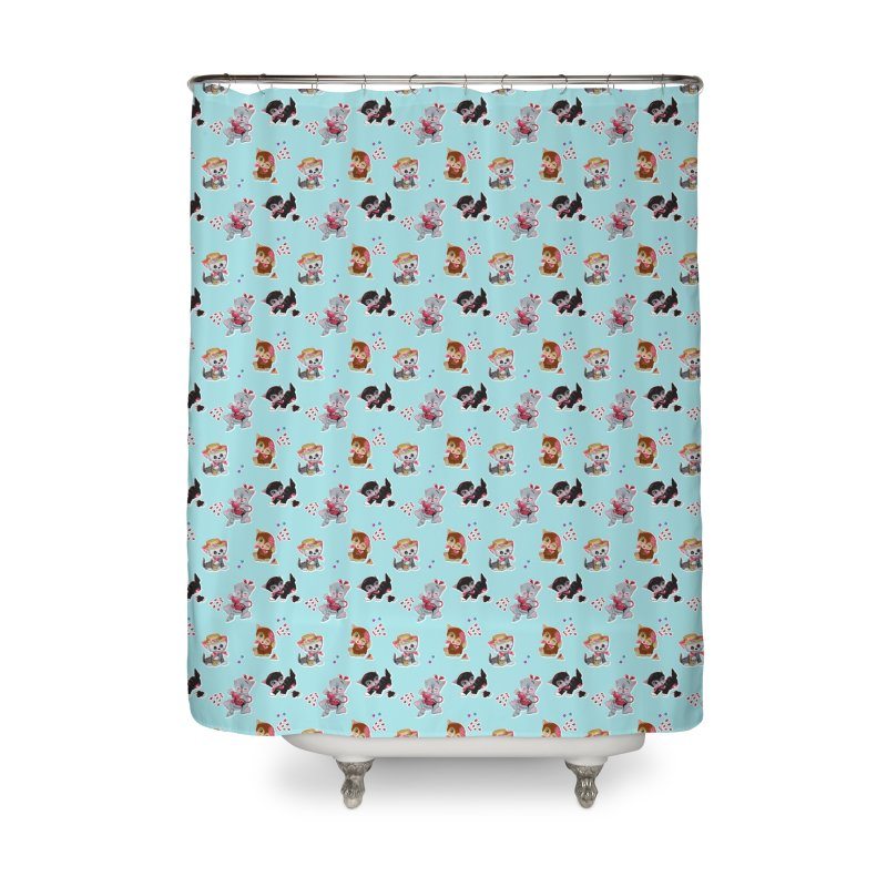 Zombie Cats Home Shower Curtain by anion2's Artist Shop