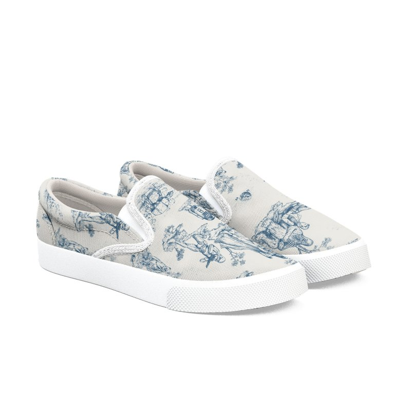 Toile de Star Wars Women's Slip-On Shoes by anion2's Artist Shop