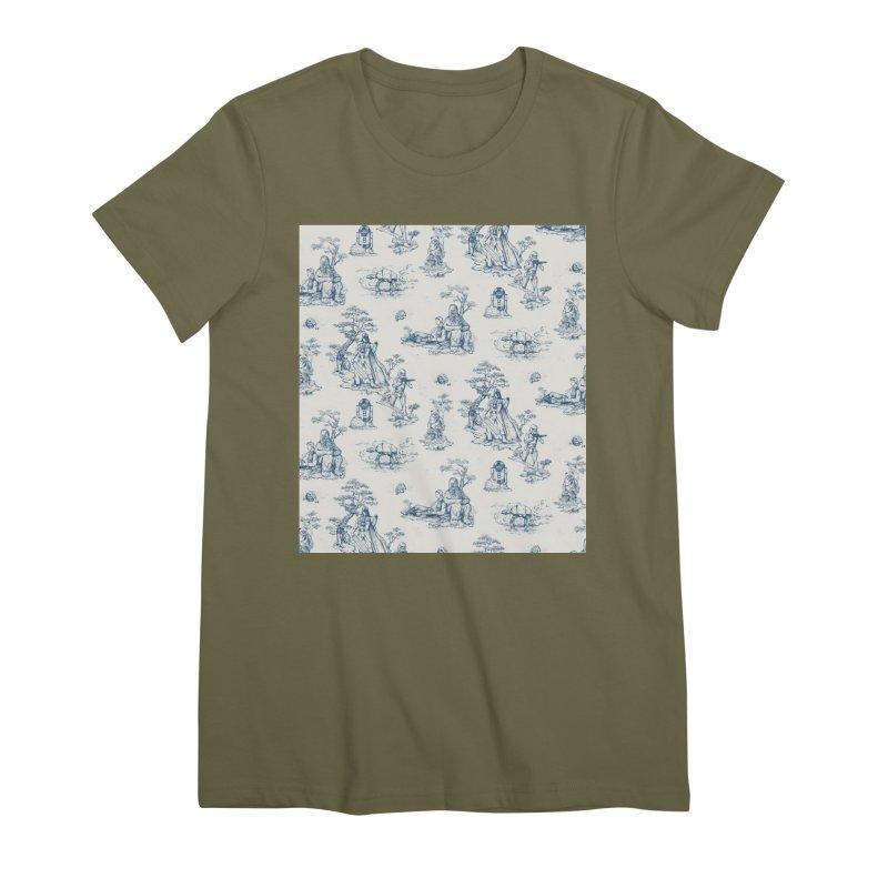 Toile de Star Wars Women's Premium T-Shirt by anion2's Artist Shop