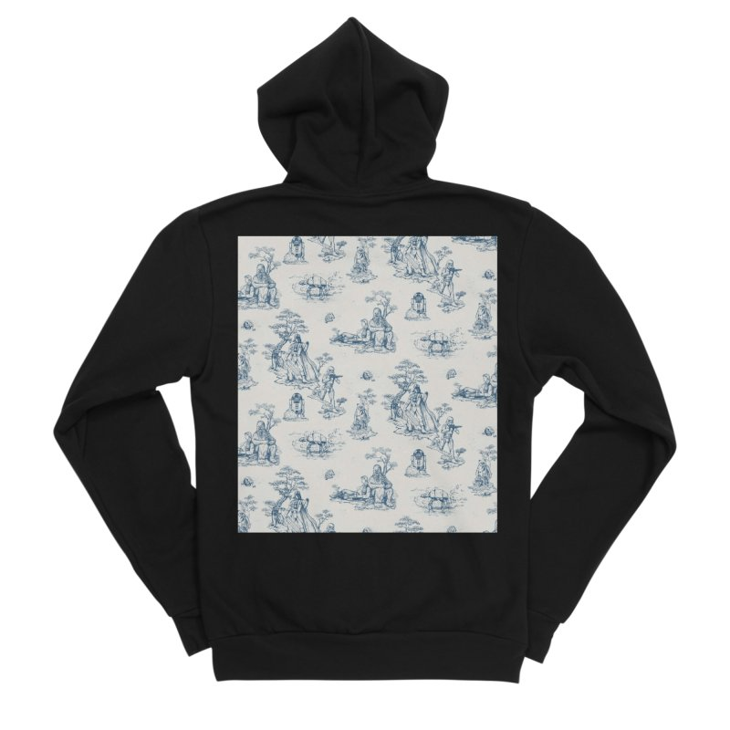 Toile de Star Wars Women's Sponge Fleece Zip-Up Hoody by anion2's Artist Shop