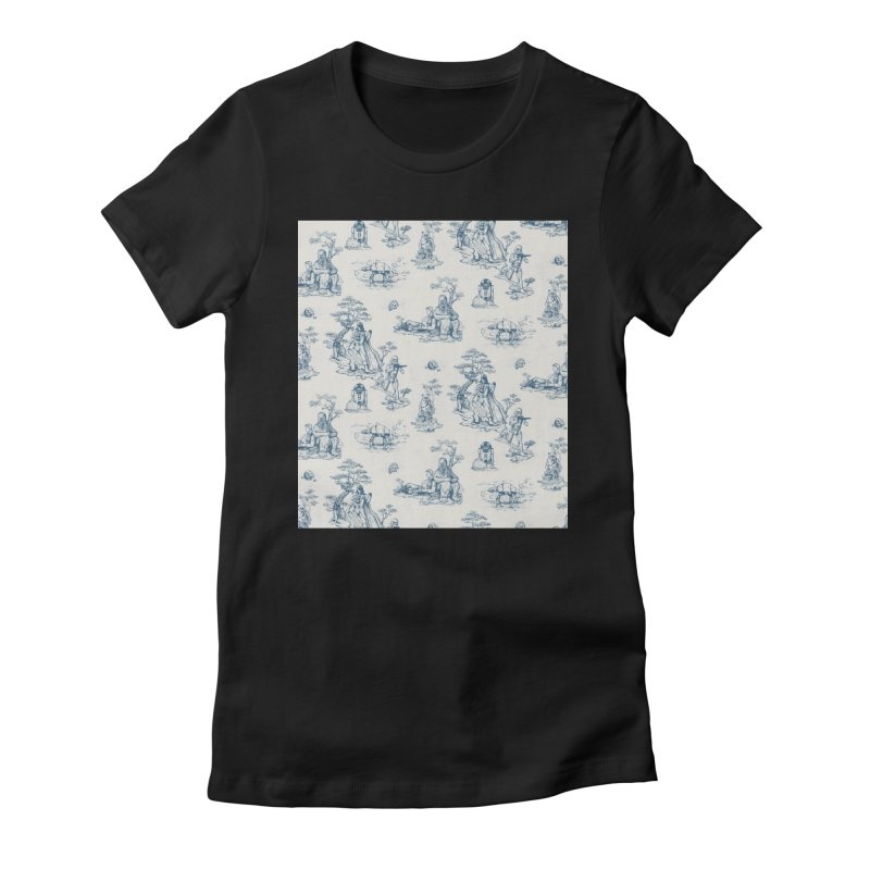 Toile de Star Wars Women's Fitted T-Shirt by anion2's Artist Shop