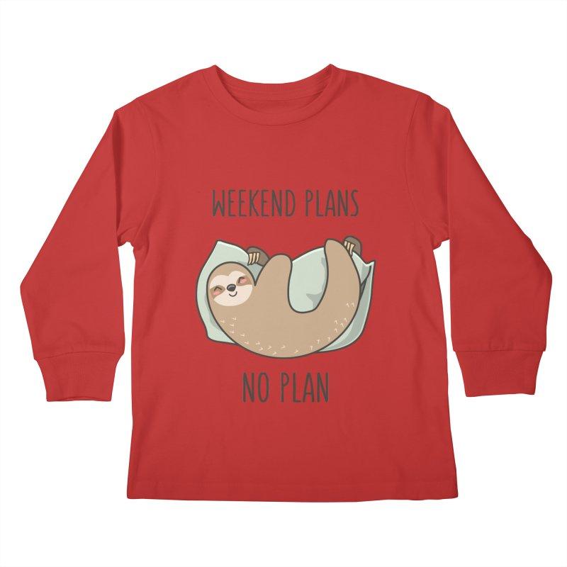 Weekend Plans Kids Longsleeve T-Shirt by anishacreations's Artist Shop
