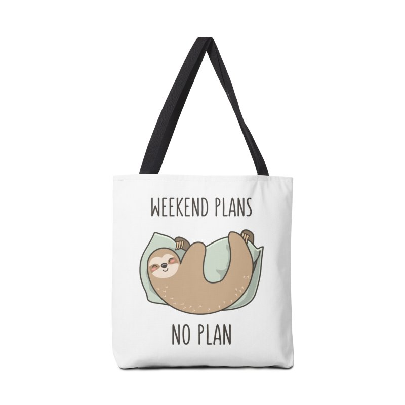 Weekend Plans Accessories Bag by anishacreations's Artist Shop