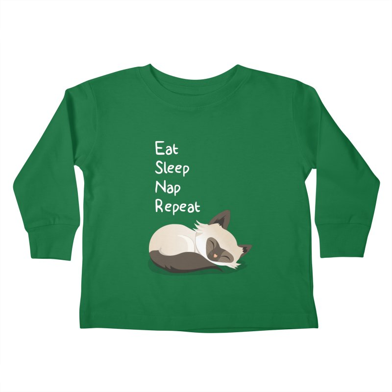 Cat's life Kids Toddler Longsleeve T-Shirt by anishacreations's Artist Shop