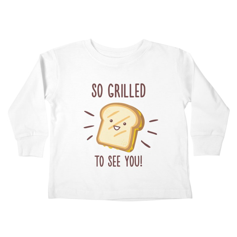 Cheesy Greetings! Kids Toddler Longsleeve T-Shirt by anishacreations's Artist Shop
