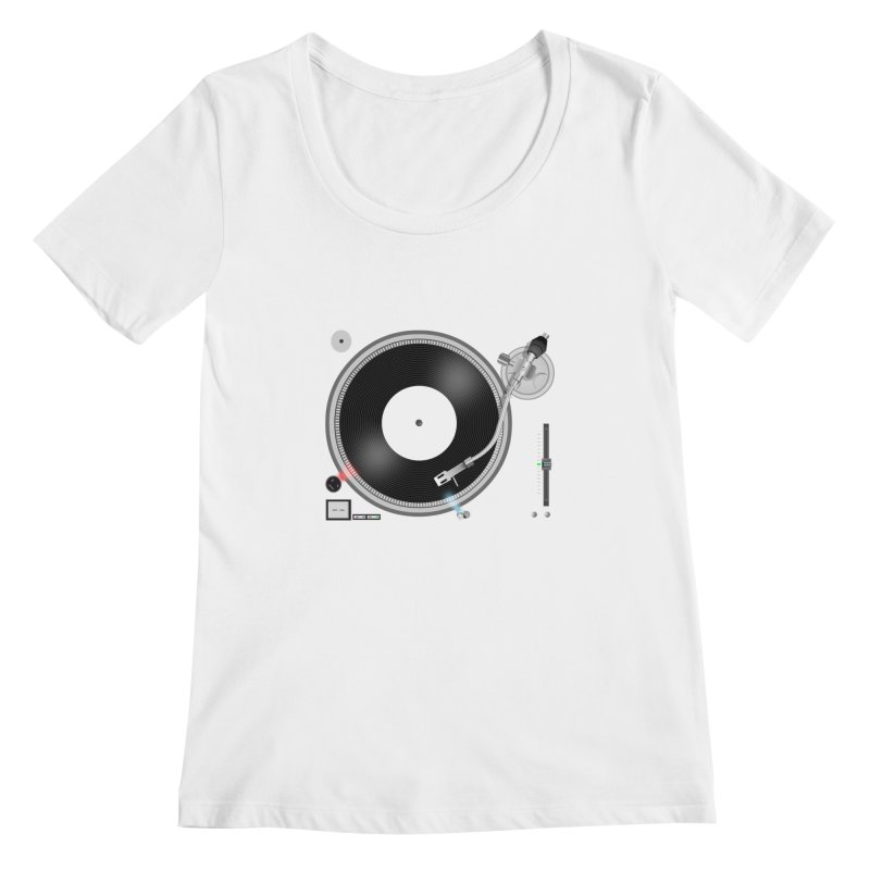 Turntable Women's Scoopneck by anishacreations's Artist Shop