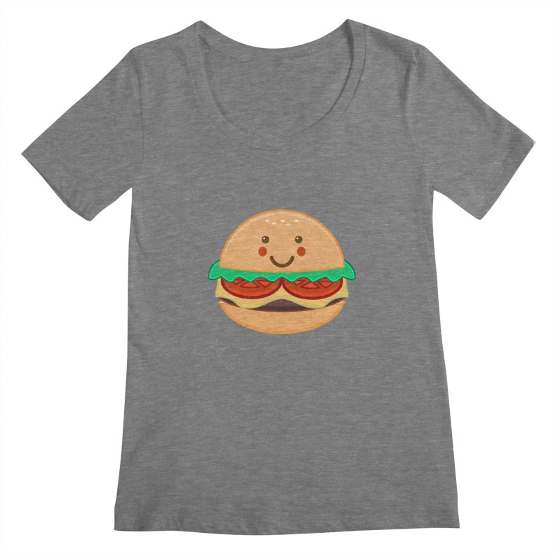 BURGER Women's Scoopneck by anishacreations's Artist Shop