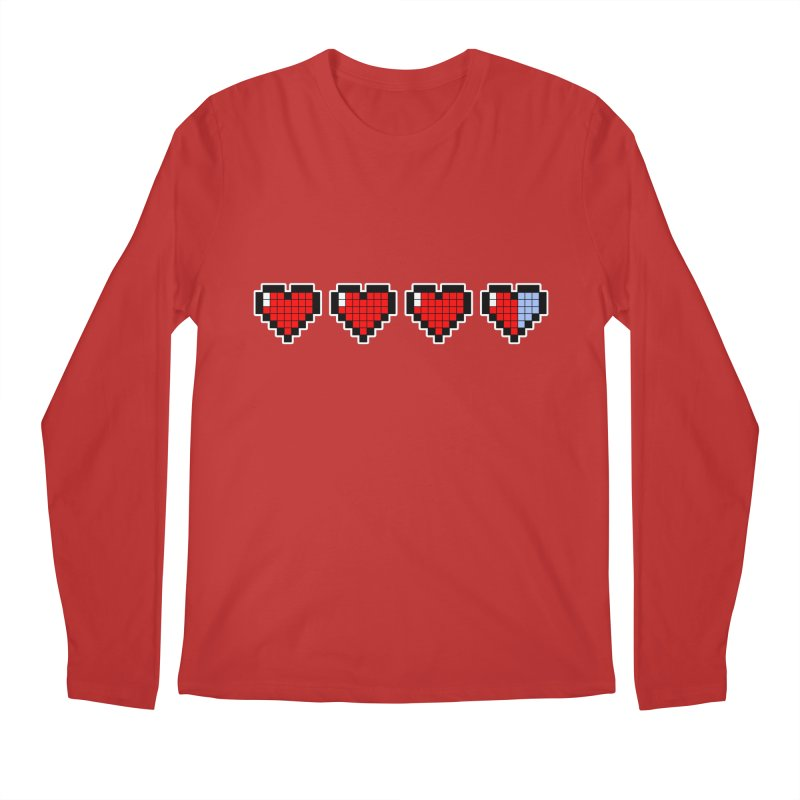Pixel Hearts Men's Regular Longsleeve T-Shirt by anishacreations's Artist Shop