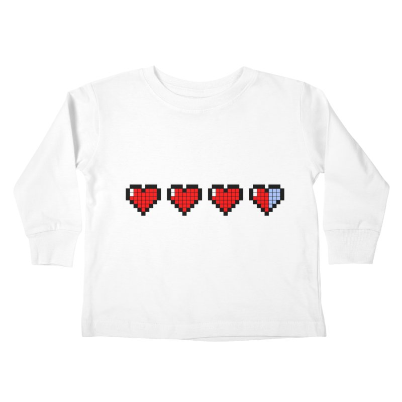 Pixel Hearts Kids Toddler Longsleeve T-Shirt by anishacreations's Artist Shop