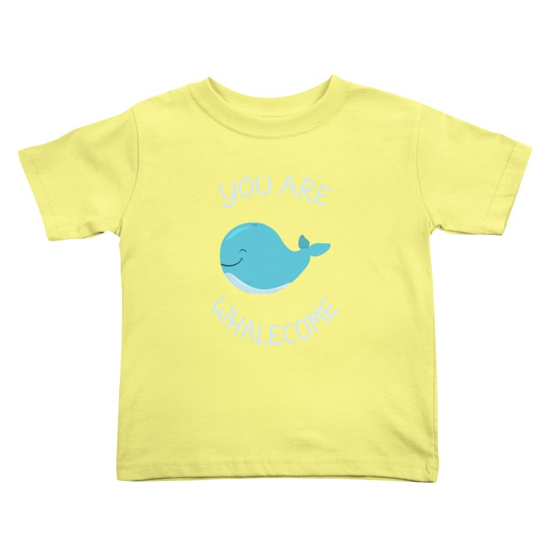 Whale, Thank You! Kids Toddler T-Shirt by anishacreations's Artist Shop