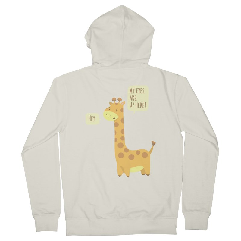 Giraffe Problems! Women's French Terry Zip-Up Hoody by anishacreations's Artist Shop
