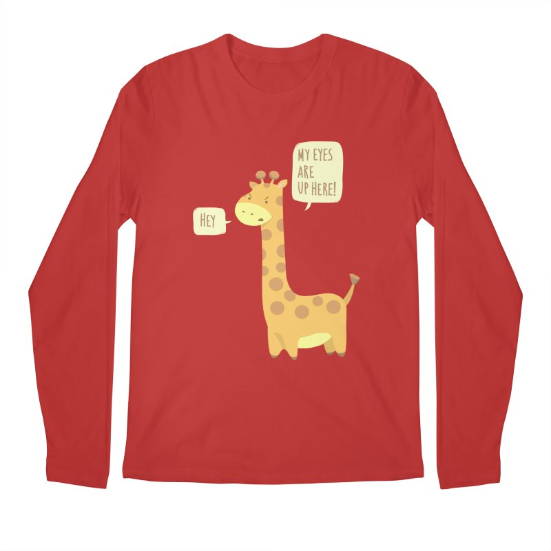 Giraffe Problems! Men's Regular Longsleeve T-Shirt by anishacreations's Artist Shop