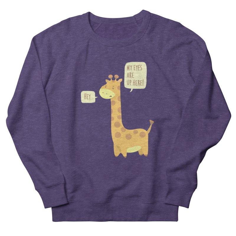 Giraffe Problems! Men's French Terry Sweatshirt by anishacreations's Artist Shop