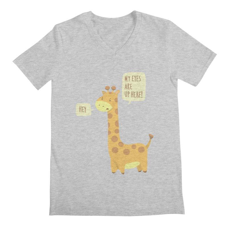 Giraffe Problems! Men's V-Neck by anishacreations's Artist Shop