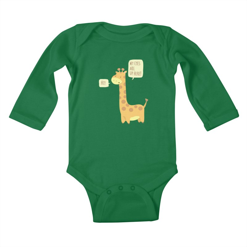 Giraffe Problems! Kids Baby Longsleeve Bodysuit by anishacreations's Artist Shop